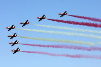 LFMY Airport - 60 years Patrouille de France : Spanish aerobatic team Aguila - by BTT