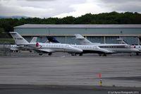 Geneva Cointrin International Airport, Geneva Switzerland (LSGG) - Some visitors for EBACE, taken from the Aerobistro. - by Carl Byrne (Mervbhx)