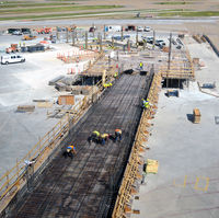 Dallas/fort Worth International Airport (DFW) - Construction project to make new gates at DFW - by Ronald Barker