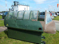 Sleap Airfield Airport, Shrewsbury, England United Kingdom (EGCV) - Miles M.25 Martinet canopy at the Wartime Aircraft Recovery Group, Sleap - by Chris Hall