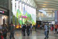 Los Angeles International Airport (LAX) - Interactive media inside the new Tom Bradley International Terminal taken on LAX Appreciation Day. - by speedbrds