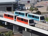 Tampa International Airport (TPA) - Trams that take you out to the remote terminals at Tampa Int'l Airport (TPA) - by Ron Coates