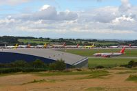 Leeds Bradford International Airport - Overview of LBA apron during sunday afternoon rush hour. - by FerryPNL