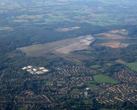 Blackbushe Airport - taken from flight on approach to London Heathrow 28 Sept 2011 about 08:03 hours - by Neil Henry