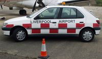 Liverpool John Lennon Airport - An old emergency/security vehicle at the old Liverpool Speke Airport - by Guitarist