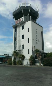 Hamilton International Airport, Hamilton New Zealand (NZHN) - Central tower - great airport easy access to lots of areas to see and take photos. Terminal area one of the worst areas. - by magnaman