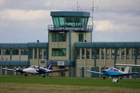 Oxford Airport - Oxford Airport tower and terminal building - by Chris Hall