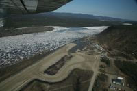 Hughes Airport (HUS) - Minor airport flooding at Hughes, Alaska during breakup of the Koyukuk River.  Pilot was Daniel Hayden, taken from Wright Air N4637U. - by David Lee
