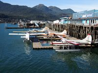 Juneau Harbor Seaplane Base (5Z1) - Seaplanes from Wings Airways. Orange: N753AK, Blue: N336AK, Yellow: N337AK, Green: N338AK, Red: N339AK. - by B737Seattle