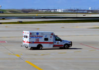 Chicago O'hare International Airport (ORD) - Ambulance on the O'Hare ramp - by Ronald Barker