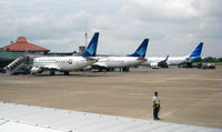 Soekarno-Hatta International Airport - Old and New Livery of Garuda Indonesia at CGK - by Gunawan Kartapranata