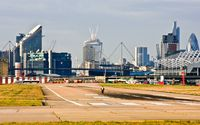 London City Airport, London, England United Kingdom (EGLC) - It's after noon on Sunday 8/12/2013 & LCY is opening up. - by Phil R Hamar