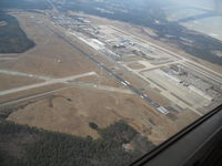 Raleigh-durham International Airport (RDU) - Directed to fly over the runway on the way to KJNX - by Kamyar Kheradpir
