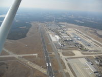 Raleigh-durham International Airport (RDU) - KRDU at 2500ft looking from the South - by Kamyar Kheradpir