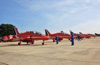 Bournemouth Airport, Bournemouth, England United Kingdom (EGHH) - Reds lining up on return to Cobham - by John Coates