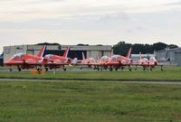 Bournemouth Airport, Bournemouth, England United Kingdom (EGHH) - Reds return after performing at the seafront - by John Coates