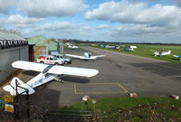 Wellesbourne Mountford Airfield - view from the Tower at Wellesbourne Mountford - by Chris Hall