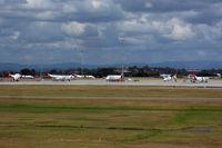 Brisbane International Airport, Brisbane, Queensland Australia (YBBN) - Five Qantas Link Dash-8s, and a B717 each of Alliance and Qantas Link - by Micha Lueck