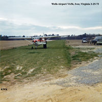 Wells Airport (VA56) - Wells Airport VA56, Ivor, Virginia Photo by Kenneth W. Keeton 3-25-73. - by Kenneth W. Keeton
