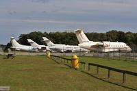 Bournemouth Airport, Bournemouth, England United Kingdom (EGHH) - JETS apron with G-CCGS, N91PS, OD-BOY and A9C-BXG - by John Coates