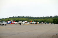 Tacoma Narrows Airport (TIW) - GA parking at Tacoma Narrows, WA - note SeaBee in centre - by Pete Hughes