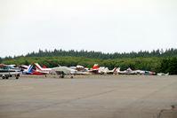 Tacoma Narrows Airport (TIW) - GA parking at Tacoma Narrows, WA - note SeaBee in centre - by Pete Hughes