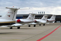 Cologne Bonn Airport, Cologne/Bonn Germany (CGN) - 4 x Air Alliance tails - by Wolfgang Zilske