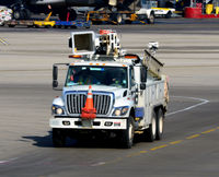 Chicago O'hare International Airport (ORD) - Deicing truck approaching at O'Hare - by Ronald Barker