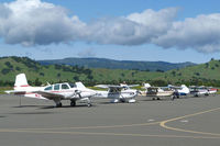 Nut Tree Airport (VCB) - Beautiful early morning lineup. - by Bill Larkins