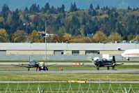Vancouver International Airport, Vancouver, British Columbia Canada (YVR) - Canadian Forces Raytheon CT-156 Harvards at YVR - by metricbolt