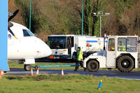 Dundee Airport, Dundee, Scotland United Kingdom (EGPN) - Apron tow action at Dundee Riverside EGPN - by Clive Pattle
