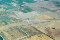 Gustine Airport (3O1) - Gustine around 2005. Looking to the north.The original runway paralleled  the hangars and was much shorter.The gas island is on the west end of the old runway. - by S B J