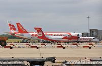 London Stansted Airport - Apron includin D-ABQC, G-EZFL and Air Asia - by John Coates