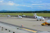 Graz Airport, Graz Austria (LOWG) - Formula1, bussines charter - by Paul H
