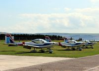 Dundee Airport, Dundee, Scotland United Kingdom (EGPN) - Tayside Aviation Grob G115 Heron's outside their hangar at Dundee Riverside EGPN - by Clive Pattle