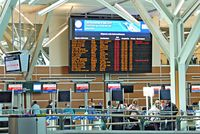Vancouver International Airport, Vancouver, British Columbia Canada (YVR) - International Departures board - by metricbolt