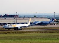 Leipzig/Halle Airport, Leipzig/Halle Germany (EDDP) - View to twy Sierra and to apron 2.... - by Holger Zengler
