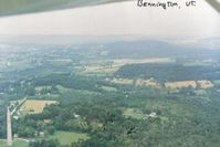 William H. Morse State Airport (DDH) - Picture taken on the 45 entry to the Bennington,Vt airport in 1989.The Bennington Battle Monument makes a great checkpoint.It is seen on the lower left. - by S B J