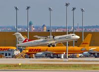 Leipzig/Halle Airport, Leipzig/Halle Germany (EDDP) - View over rwy 26L to apron 4...... - by Holger Zengler