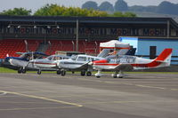 Thruxton Aerodrome - on the main apron at Thruxton Aerodrome - by Chris Hall