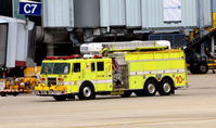 Chicago O'hare International Airport (ORD) - Fire truck 10 O'Hare - by Ronald Barker