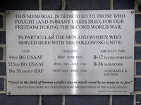Earls Colne Airfield - Memorial Plaque to WWII USAF Airmen at Earl's Colne EGSR - by Clive Pattle