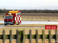 RAF Lossiemouth Airport, Lossiemouth, Scotland United Kingdom (EGQS) - Close-up of ATC ops van at the threshold of Rwy 05 at RAF Lossiemouth EGQS - by Clive Pattle