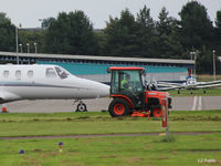 Dundee Airport, Dundee, Scotland United Kingdom (EGPN) - Grass Cutting Ops at Dundee Riverside EGPN - by Clive Pattle