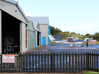 Fife Airport - The hangar apron at Glenrothes EGPJ - by Clive Pattle