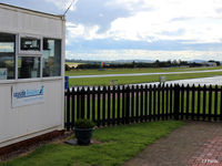 Fife Airport - View from the Clubhouse patio area looking west at Glenrothes EGPJ - by Clive Pattle