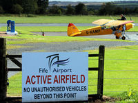 Fife Airport - Airfield general view and refueling station at Glenrothes EGPJ - by Clive Pattle