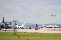 Manchester Airport, Manchester, England United Kingdom (EGCC) - View from the viewing enclosure looking east at the airport activity - at Manchester EGCC - by Clive Pattle