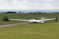 X5SB Airport - Sutton Bank Gliding Centre, September 7th 2014. - by Malcolm Clarke