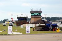 RAF Waddington - Tower view on Airshow days 14 - by Clive Pattle
